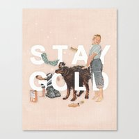 stay gold Canvas Prints featuring Stay Gold by Heather Landis