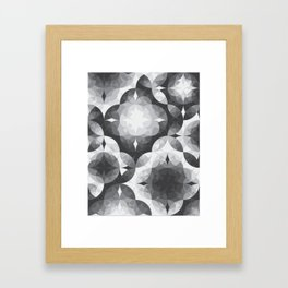 Achromatic Diamonds Framed Art Print