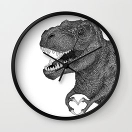 Dino Love Wall Clock