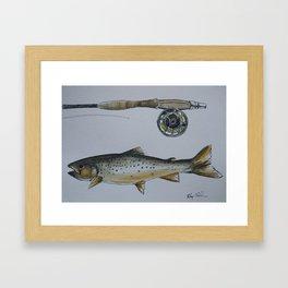 Ice Fishing Framed Art Print