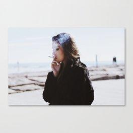 SMOKE BREAK Canvas Print