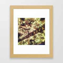The Neck Framed Art Print