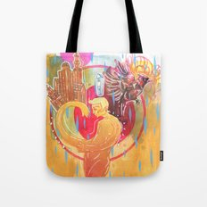 Building Cities Tote Bag