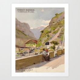 Vintage poster - Fernet-Branca Art Print