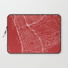 Chula Vista Map, USA - Red Laptop Sleeve