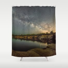 Milkyway at Halibut Point State Park quarry Shower Curtain