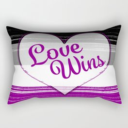 Asexual Gay Pride-Love Wins Design Rectangular Pillow