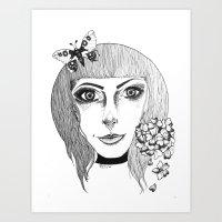 fairies Art Prints featuring Fairies by Bambi-boo