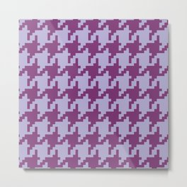 Houndstooth - Purple Metal Print