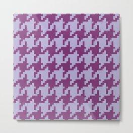 Houndstooth - Purple Metal Print