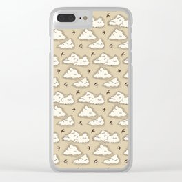 Flying swallow Clear iPhone Case