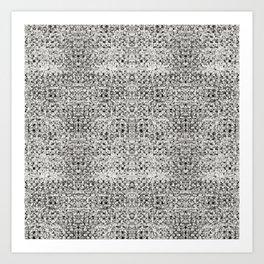 Aztek Gray Art Print