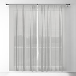 High Notes ~ Light Silver Sheer Curtain