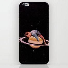sleeping on stars iPhone Skin