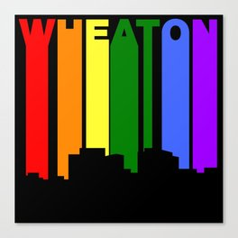 Wheaton Maryland Gay Pride Rainbow Skyline Canvas Print