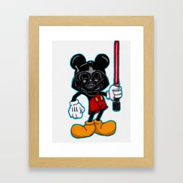 Darth Mouse Framed Art Print