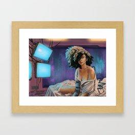 Cyberpunk Girl Framed Art Print