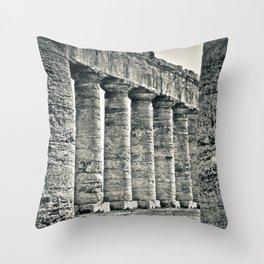 Temple of Segesta Throw Pillow