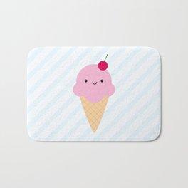 Kawaii Ice Cream Cone Bath Mat