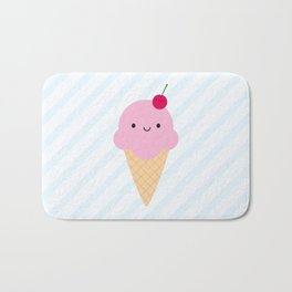 Kawaii Ice Cream Cone Bath Mat