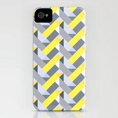 Herringbone geometric yellow Slim Case iPhone (4, 4s)