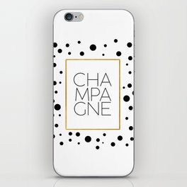 Celebration,Bar Quote,Typography Print,Drink Champagne,Champagne Sign,Wall artwork,Bar Poster iPhone Skin