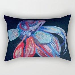 Male Siamese Fighting Fish Betta Splendens Rectangular Pillow