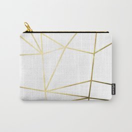 Gold Metallic Nodes Carry-All Pouch