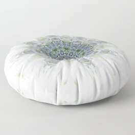Light Birch Mandala Floor Pillow