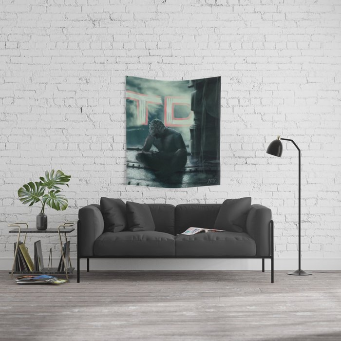 tears in the rain Wall Tapestry