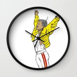 Freddy Mercury - Wembley, 1986 Wall Clock