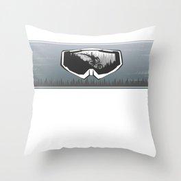 Mask Line Throw Pillow