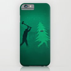 Funny Cartoon Christmas tree is chased by Lumberjack / Run Forrest, Run! iPhone 6s Slim Case