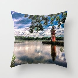Moritzburg Lighthouse by Jeanpaul Ferro Throw Pillow