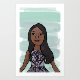 Candice Patton as Iris West Art Print