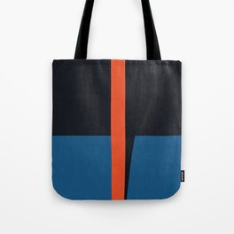 Blue and red composition XVI Tote Bag