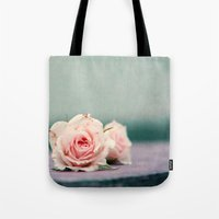 roses Tote Bags featuring roses by Claudia Drossert