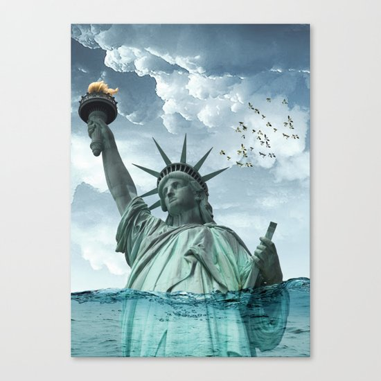 the water line Canvas Print