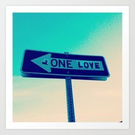 One Way, One Love Art Print