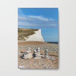 Seven Sisters Country Park, East Sussex, UK Metal Print