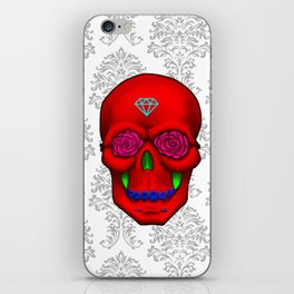 FLOWER SKULL iPhone Skin