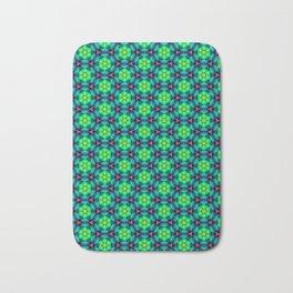 Bubble Pattern in Green Bath Mat