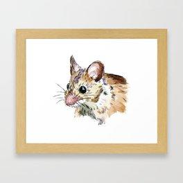 Little Brown Mouse Framed Art Print