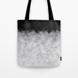 Snow Clouds in the Dark - Abstract Tote Bag