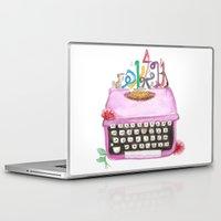 typewriter Laptop & iPad Skins featuring typeWriter  by Watercolor_2011