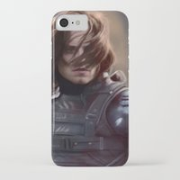 winter soldier iPhone & iPod Cases featuring Winter Soldier by LindaMarieAnson