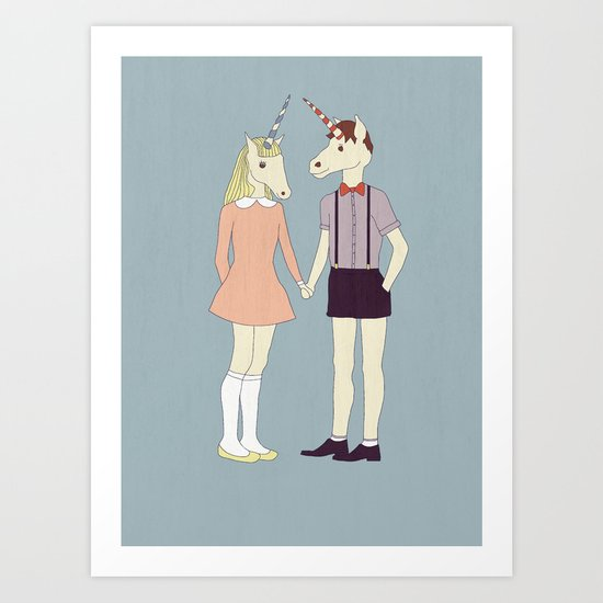 Our love is unique, we are Unicorns Art Print
