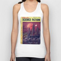 sci fi Tank Tops featuring Retro 1951 Sci-Fi by InvaderDig
