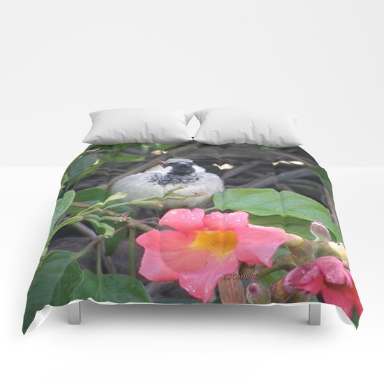 Sparrow in the Vine Comforters