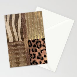 Gold Lioness Safari Chic Stationery Cards